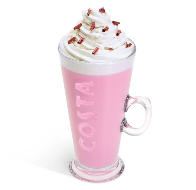 The Ruby Cocoa Hot Chocolate is back by popular demand (Credit: Costa)
