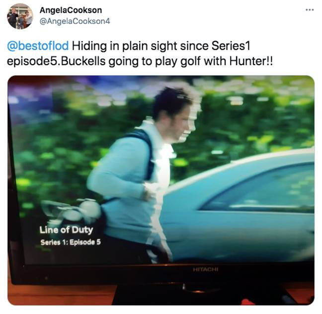 One fan spotted Ian Buckells off to play golf with the OCG (Credit: Twitter/BBC)