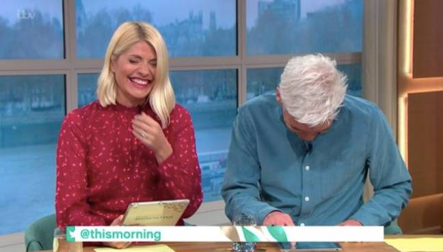 Holly Willoughby and Phillip Schofield couldn't contain themselves (Credit: ITV)