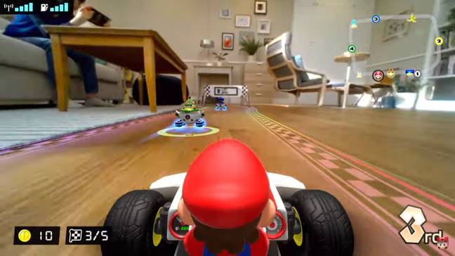 Get ready to go speeding under your living room furniture (Credit: Nintendo)