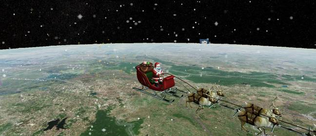 You can check Father Christmas's route (Credit: Norad)