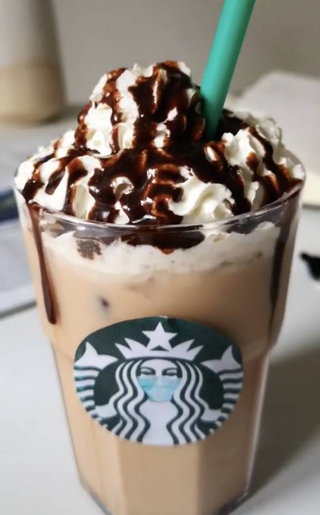 Looks like it could be from actual Starbucks... (Credit: @caughtsnackin)