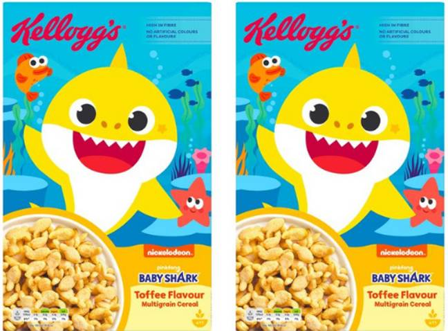 Kellogg's has launched Baby Shark cereal (Credit: Tesco)