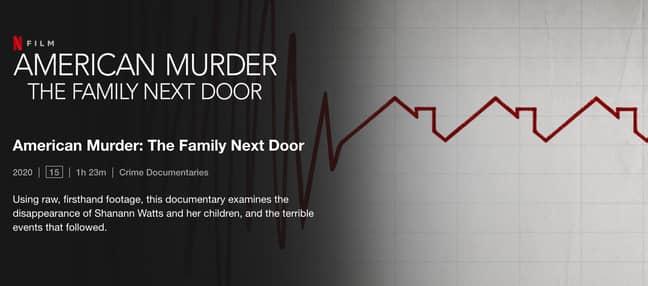 American Murder: The Family Next Door (Credit: Netflix)