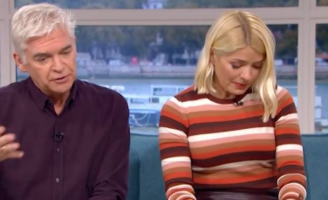 Holly was visibly upset at Eva's harrowing story. (Credit: This Morning/ITV)