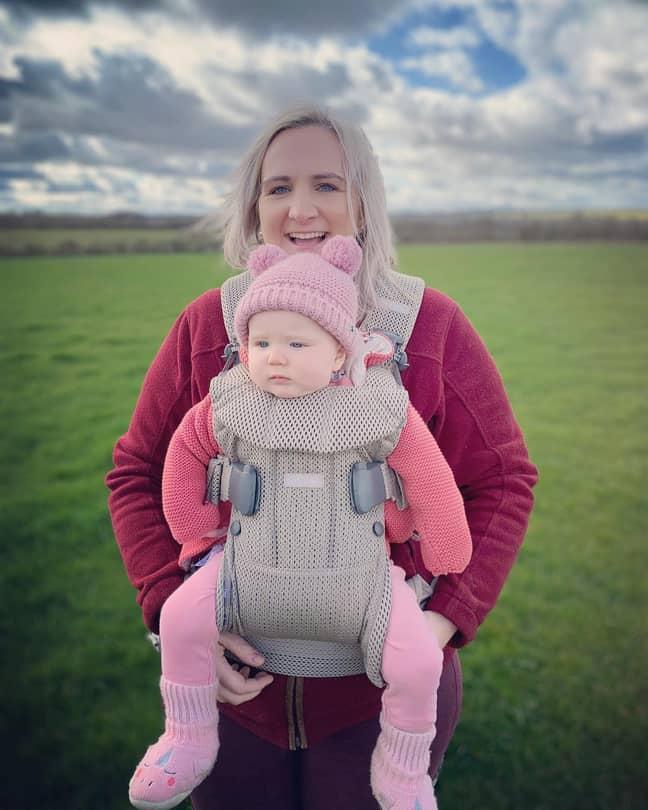 Gemma gave birth to her daughter Pip last year (Credit: Gemma Stanford)