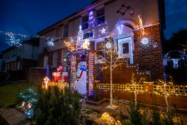 Ian decked out his home in South Lanarkshire (Credit: SWNS)