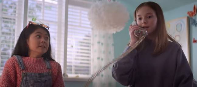 The kids are still using a landline despite the modern twist (Credit: Netflix)