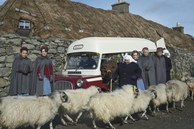 The seasonal special follows Mother Mildred and the gang as they travel to the Outer Hebrides (Credit: BBC)