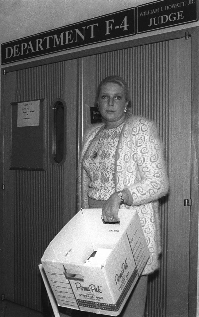 Betty attending her divorce and child custody hearing in 1989 (Credit: PA)