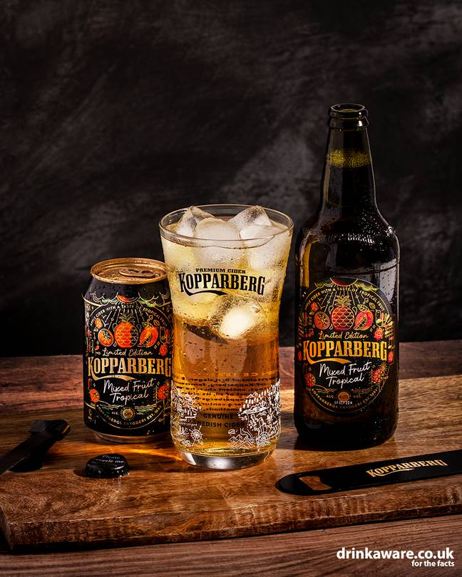 Say hello to the Kopparberg Mixed Fruit Tropical Cider (Credit: Kopparberg)