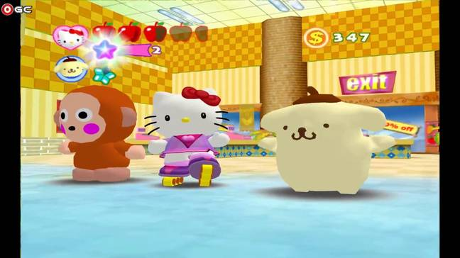 There are countless Hello Kitty video games, including Hello Kitty Roller Rescue! (Credit: Credit XPEC Entertainment)