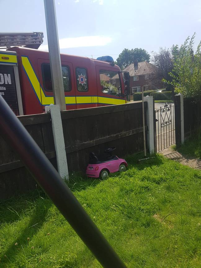 The fire brigade were called to the house (Credit: Caters)