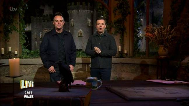 Ant and Dec hosted from the I'm a Celeb castle last year (Credit: ITV)