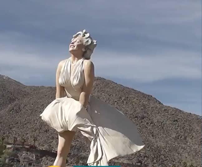 The statue in California has caused debate (Credit: ITV)