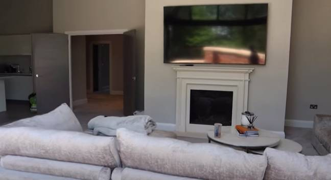 Molly said she can't wait to use the fireplace in the winter (Credit: Molly-Mae Hague/YouTube)
