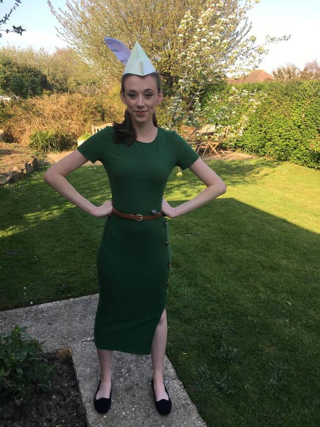 Isabel dressed as Peter Pan (Credit: SWNS)