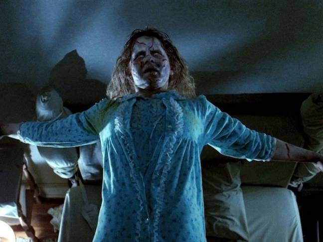Regan is possessed by a dark force in The Exorcist (Credit: Warner Bros.)