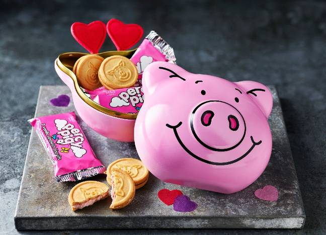 M&S has launched Percy Pig biscuits, which come in an adorable keepsake tin (Credit: M&S)