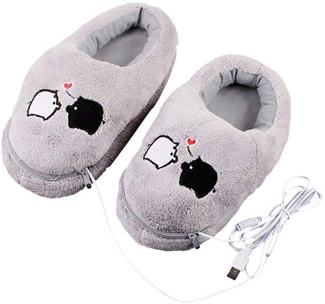 Amazon is also selling cute heated slippers, too (Credit: Amazon)