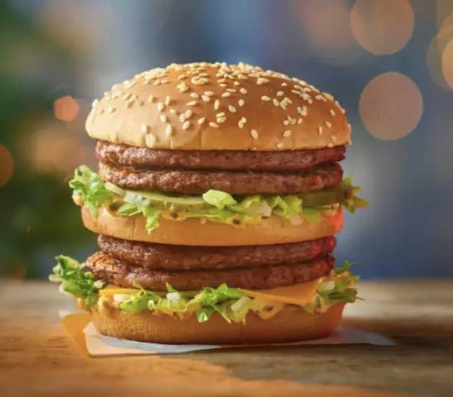 The fast food chain introduced its Christmas menu (Credit: McDonald's)