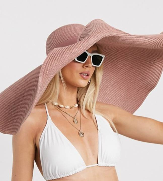 The pink hat is £11 on ASOS (Credit: ASOS)