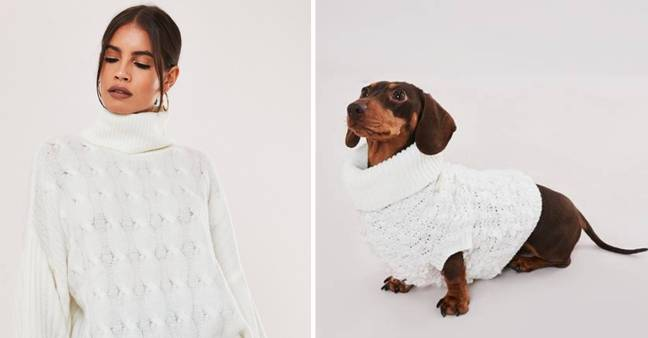 You can now match your pooch in the wardrobe department. (Credit: Missguided)