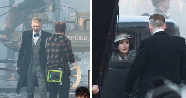 Arthur Shelby also appeared to take centre stage on set (Credit: SWNS)