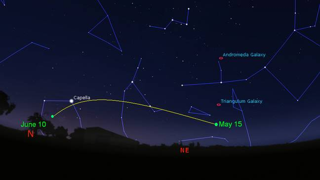 The Royal Astronomical Society have drawn up a map of how to spot the comet (Credit: RAS)