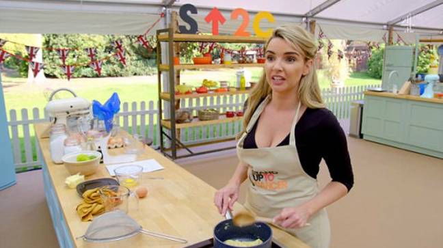 Celebrity Bake Off's Nadine Coyle (Credit: Channel 4)