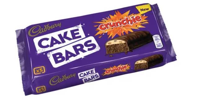 Crunchie Cake Bars, now available at Asda (Credit: Cadbury)
