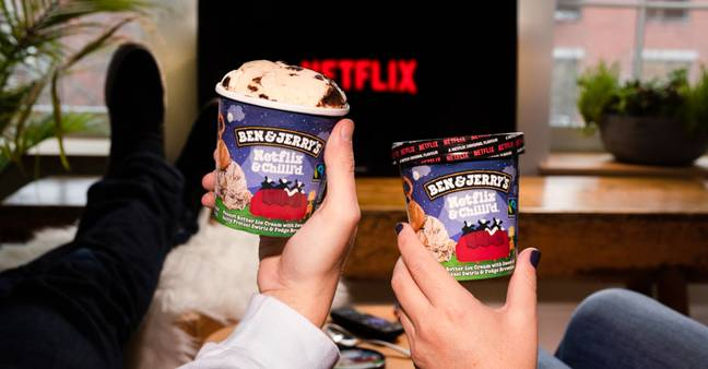 Kick back in front of the TV with new Netflix & Chill'd flavour (Credit: Ben & Jerry's)