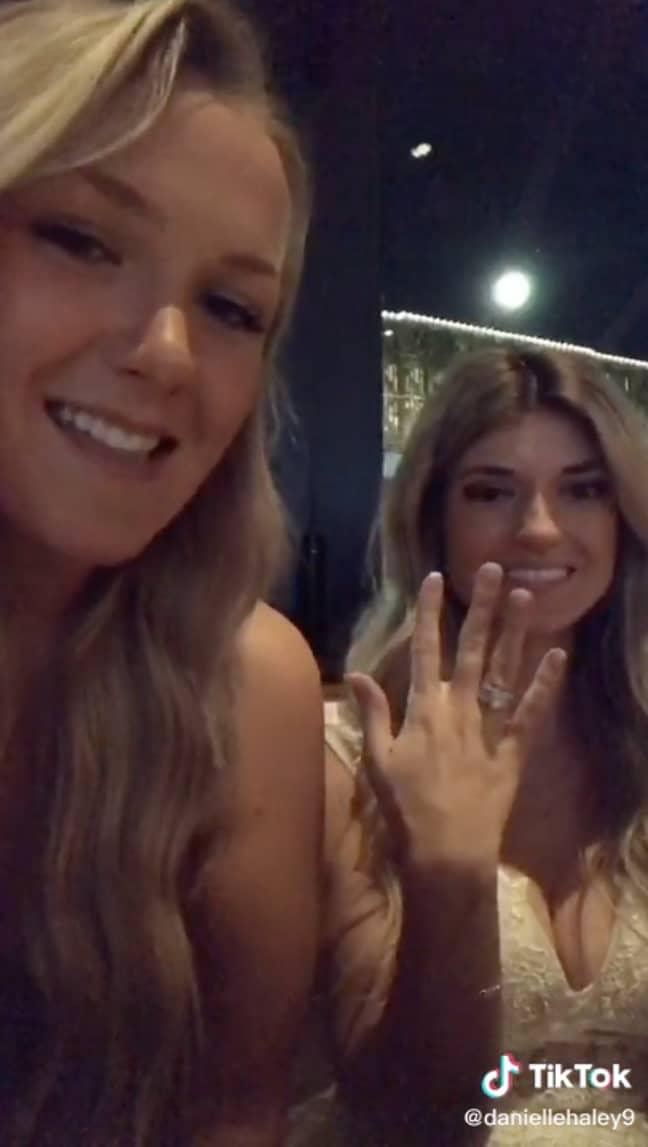 Danielle also asked Alexis why she chose strangers as bridesmaids (Credit: TikTok/@daniellehaley9)
