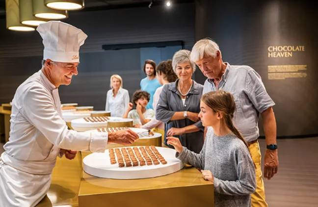 Head to 'Chocolate Heaven' to try out the pralines and bars for yourself (Credit: ATELIER BRÜCKNER / Michael Reiner)