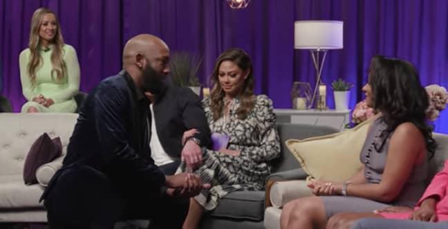 Carlton gets down on one knee (Credit: Netflix)
