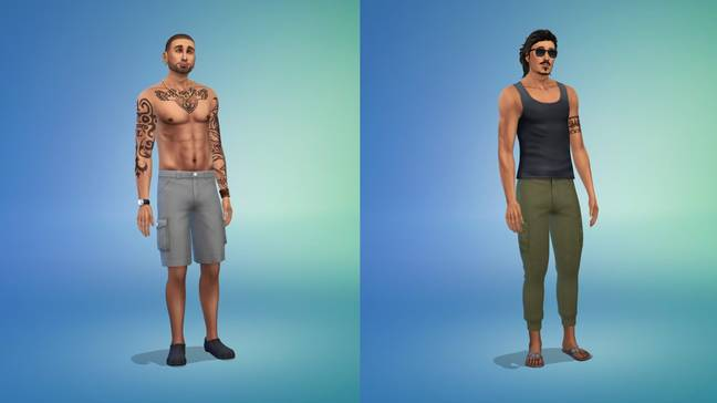 Both John Finlay and Travis Maldonado have been given the Sims treatment too (Credit: Kari Nicole Mckendrick/EA)