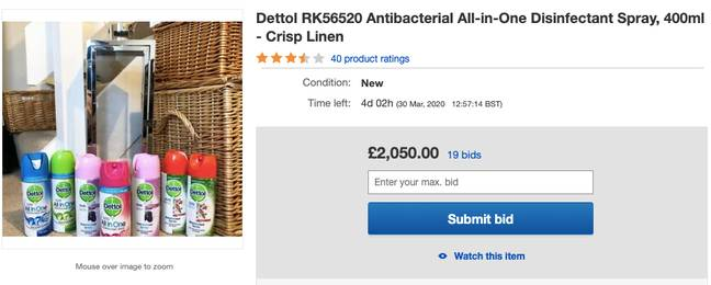 Another item is being flogged for over £2,000 (Credit: eBay)