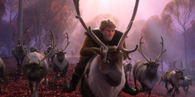 Kristoff sings an emotional ballad - 'Lost in the Woods' - about his love for Anna. (Credit: Disney)