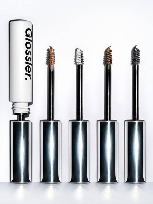Their hero product, Boy Brow, costs £14 and comes in four different shades. Credit: Glossier