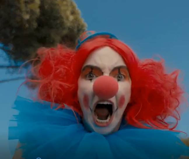 Villanelle in a clown costume: guaranteed to haunt your dreams (Credit: BBC America)