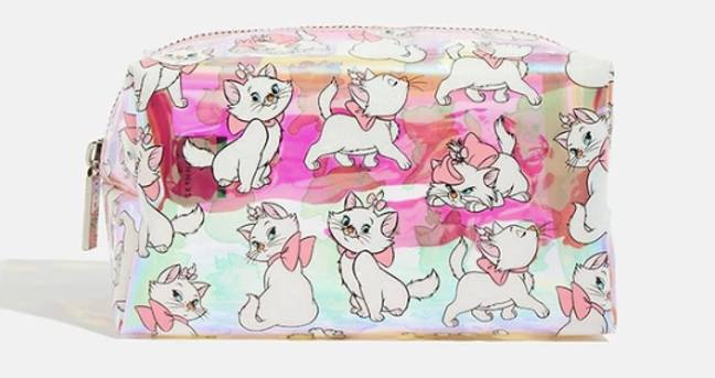 Or how about an iridescent makeup bag? (Credit: Skinny Dip)