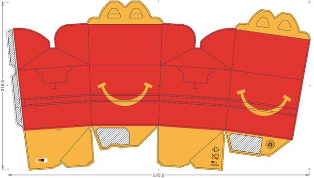 McDonald's has uploaded a handy PDF version of its iconic Happy Meal boxes (Credit: McDonald's)