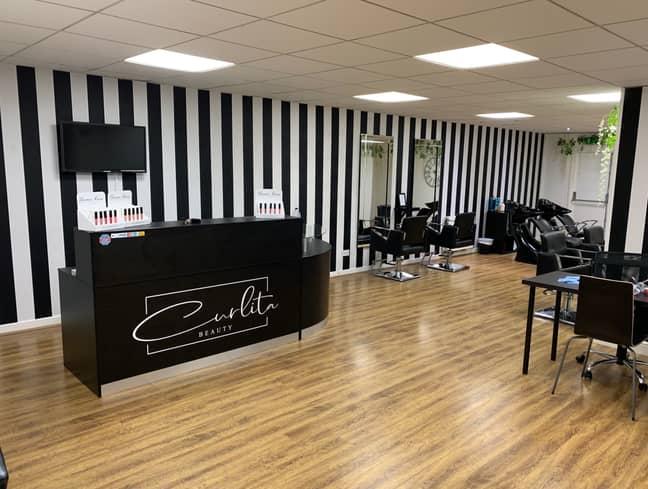 Hannah's salon, Curlita Hair and Beauty, is expected to open on 12th April (Hannah-Curlita Dennis)