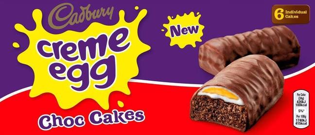 Many Creme Egg fans have welcomed the news of the new cake bars (Credit: Iceland)