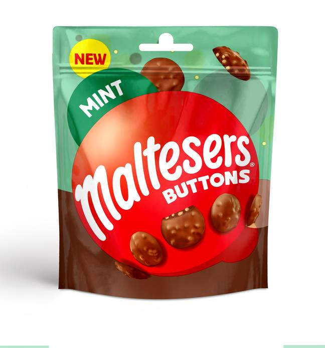 The Mint Malteser Buttons come in small and sharer packs (Credit: Maltesers)