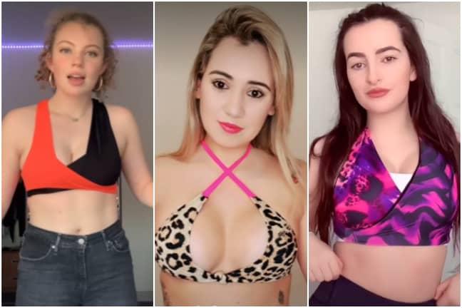 The women of TikTok are trying the trend (Credit: TikTok)