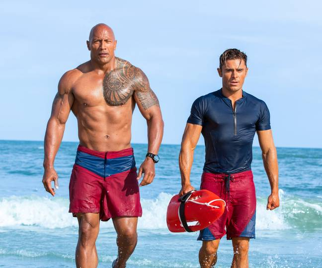 Zac Efron starred alongside The Rock (Credit: Baywatch/ Paramount Pictures)