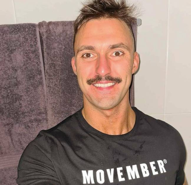 Nic supports charities like Movember (Credit: Instagram/ Nic Jovanovic)