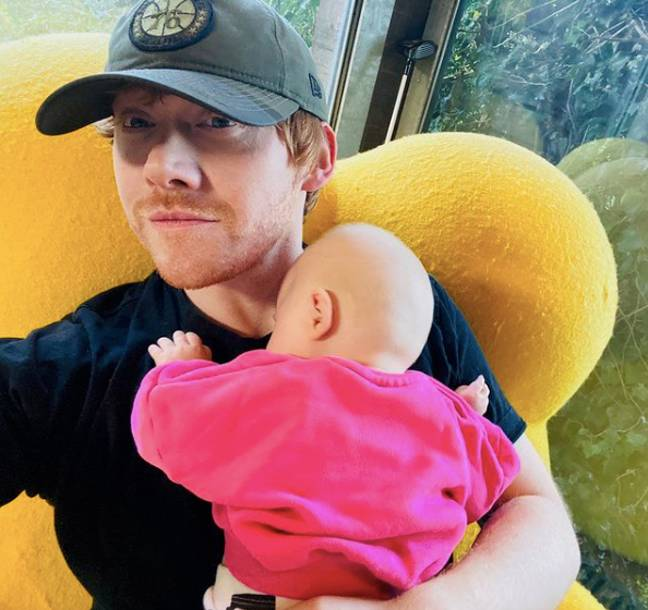 Rupert said he will have to catch up on Harry Potter with his daughter (Credit: Instagram - @rupertgrint)