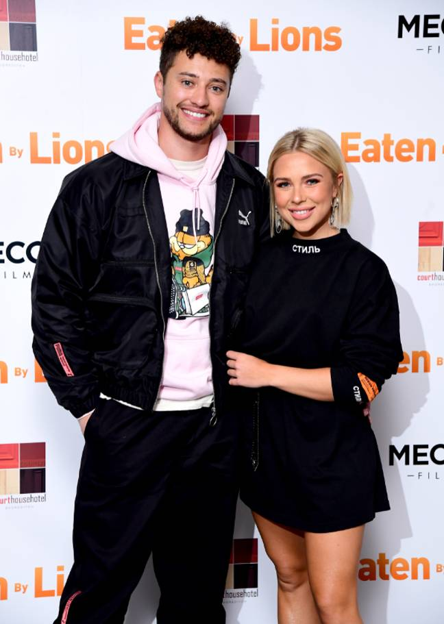 Myles Stephenson with ex Gabby Allen. (Credit: PA)